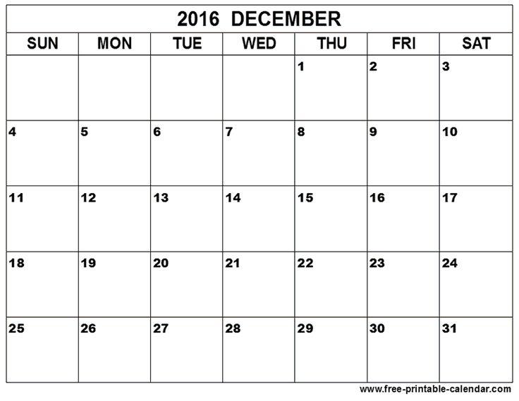 December 2016 Calendar To Print                                                                                                                                                                                 More
