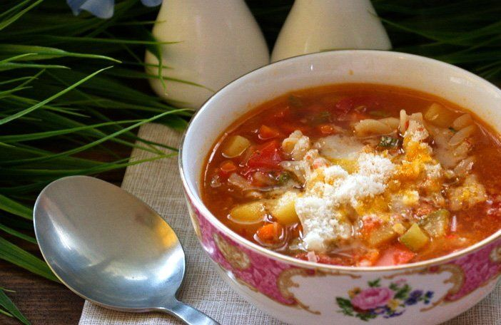 Суп Минестроне классический