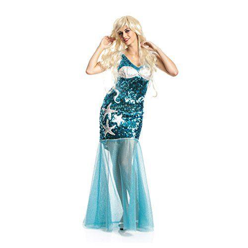Damen Meerjungfrau Kostüm für Karneval, Halloween und Fasching | ca €27