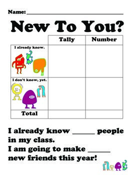 Icebreaker Math Activities for First & Second Graders ...