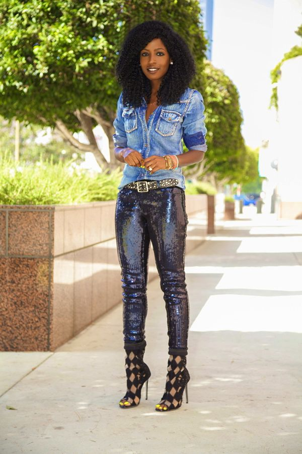 Style Pantry:  Denim & Sequin