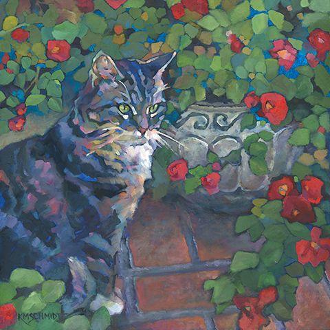Just Landscape Animal Floral Garden Still Life Paintings by Louisiana Artist Karen Mathison Schmidt