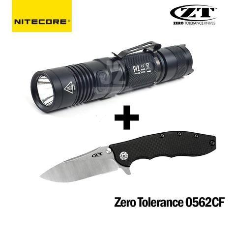 Zero Tolerance 0562CF Knife + Nitecore P12 LED Flashlight Combo