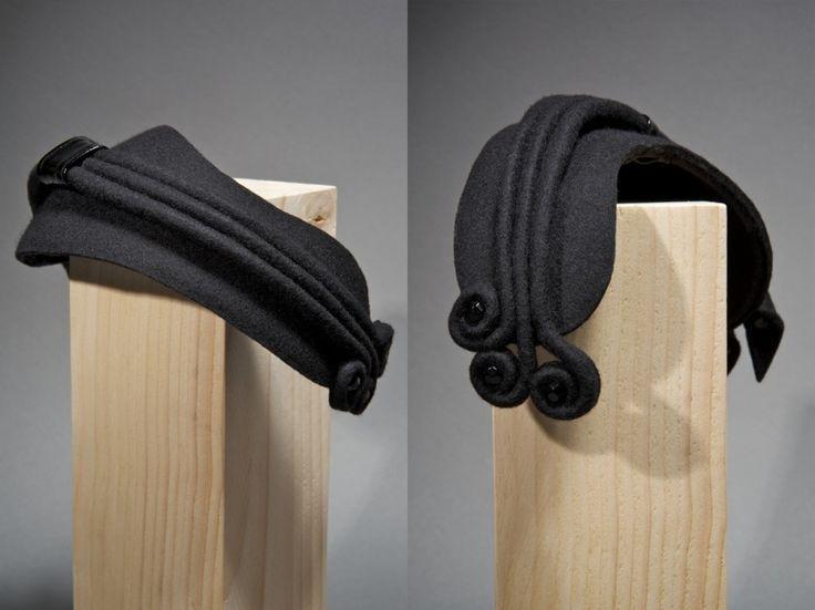 Three Lines felt by Alwa Peteroni  #millinery #judithm #hats