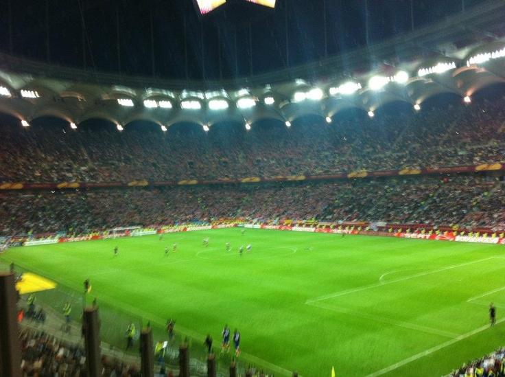 Arena Nationala, la finalul meciului Athletico Madrid - Athletic Bilbao Finala UEFA Europa League (scor 3-0)