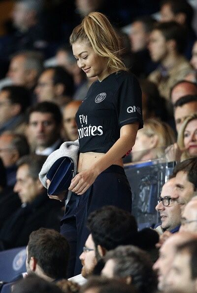 Hadid News    Your best and ultimate source for all things about the Hadid sisters  - October 4: Gigi Hadid attends the match between...