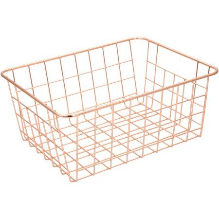Mainstays Wire Basket, Available in Multiple Colors, Pack of 6, Gold