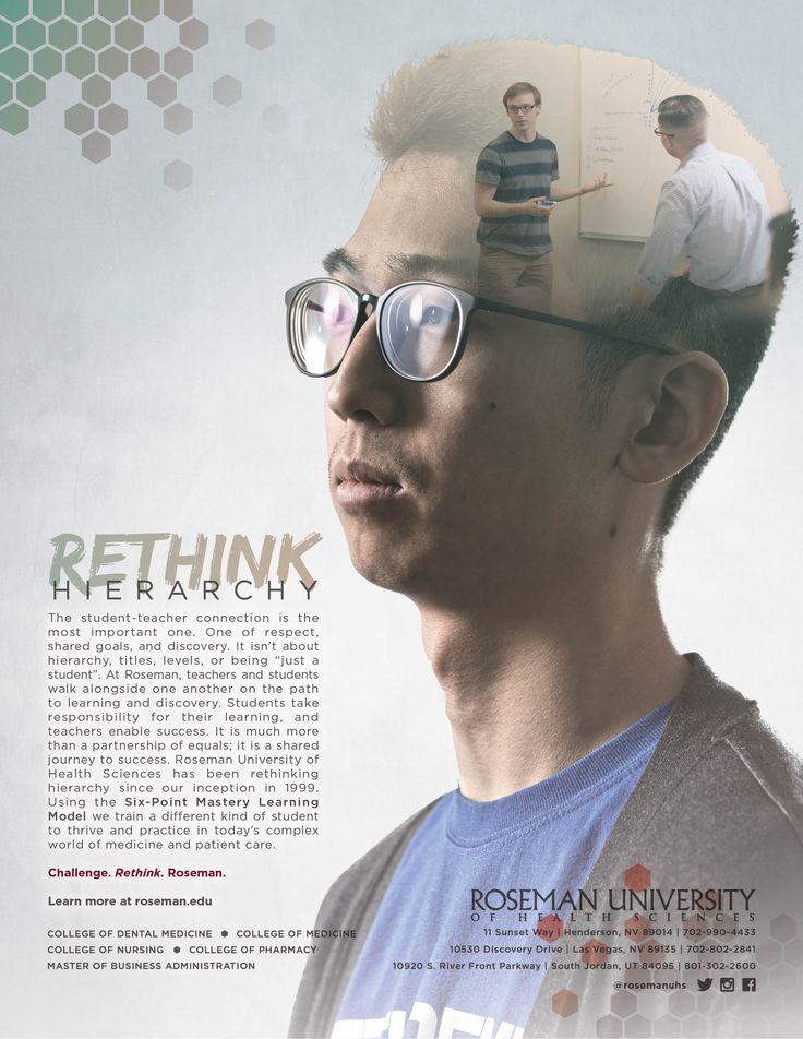 Rethink Hierarchy Double Exposure Artwork Advertising Ad Campaign Rethink The Future Design Campaign Las Vegas Nevada South Jordan Utah Medical School Roseman University College Students