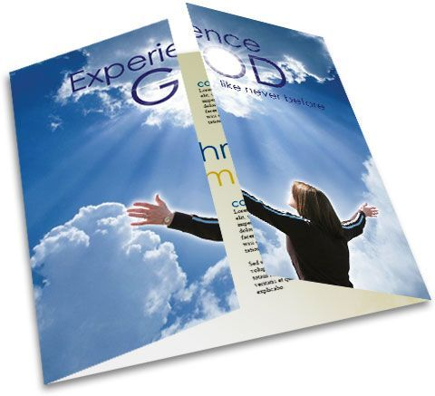 Best Church Bulletin Images On   Brochure Design