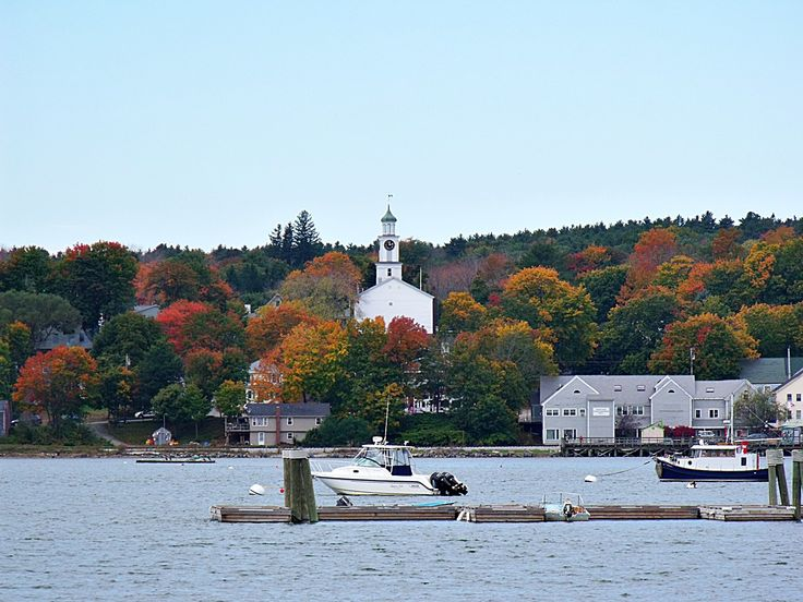 Wiscasset, Maine. Beautiful small town with lots of great antique shops and Red's!