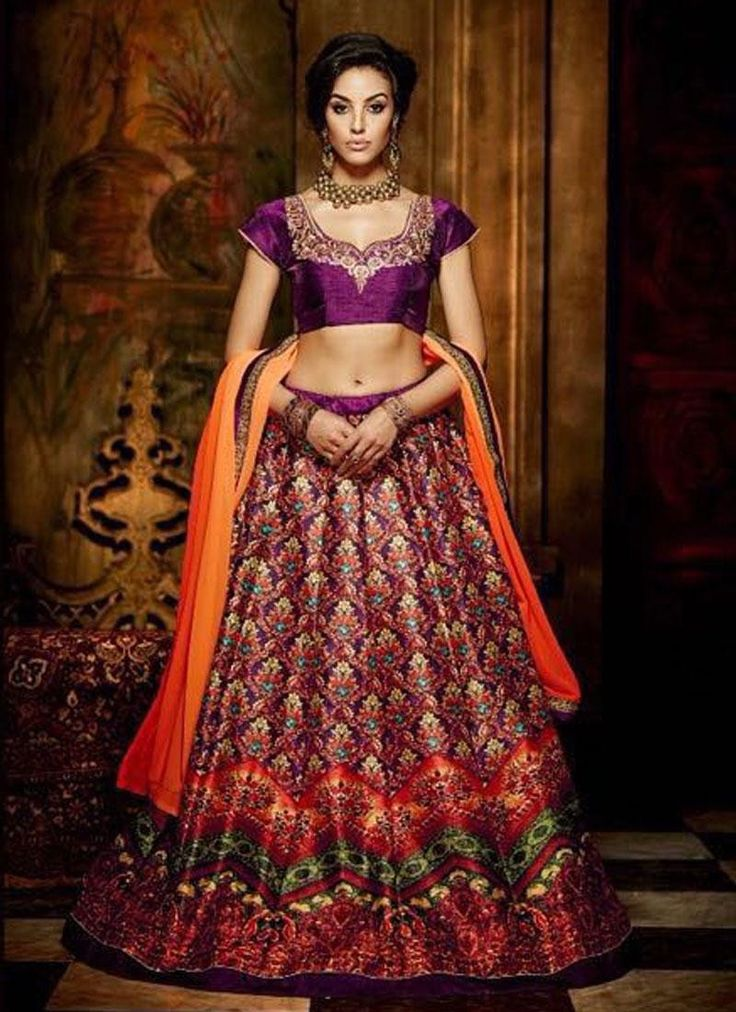 Buy Exclusive Maroon Colored Designer #Lehengas Online at Lowest Price on Godomart Online Shopping Store http://www.godomart.com/maroon-colored-embroidered-banglori-silk-designer-lehengas.html