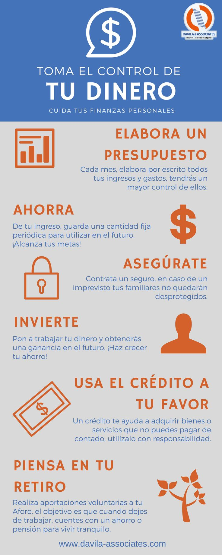 ¿Cómo cuidas tus finanzas personales? #seguro #vida #retiro #ahorro #dinero #segurodevida #segurosdavila #contigo #asesoresdeseguros #mexico