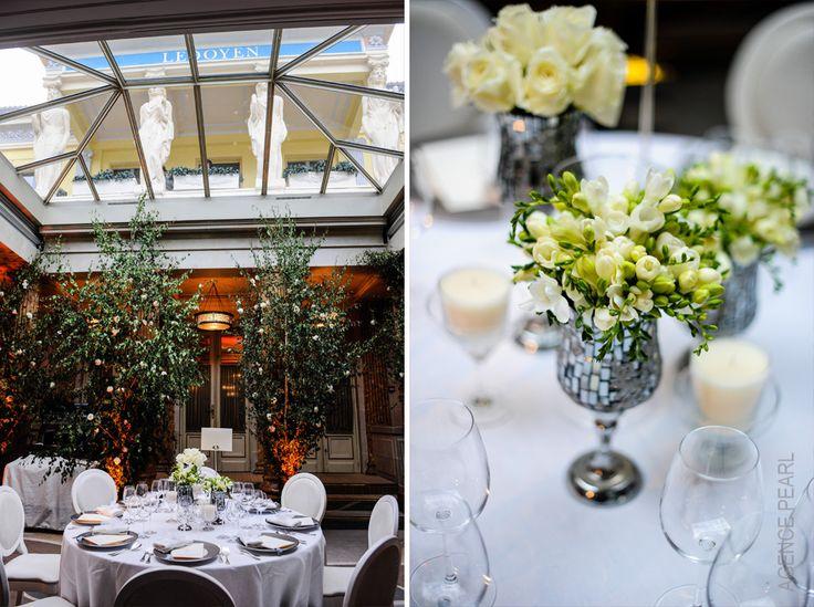 Wedding table settings. Pavillon Ledoyen - Paris