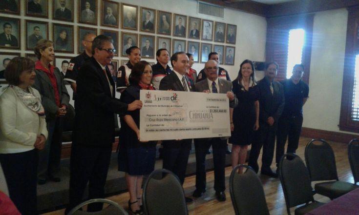 Recibe Cruz Roja donación superior a los 1.2 mdp por parte del Ayuntamiento de…