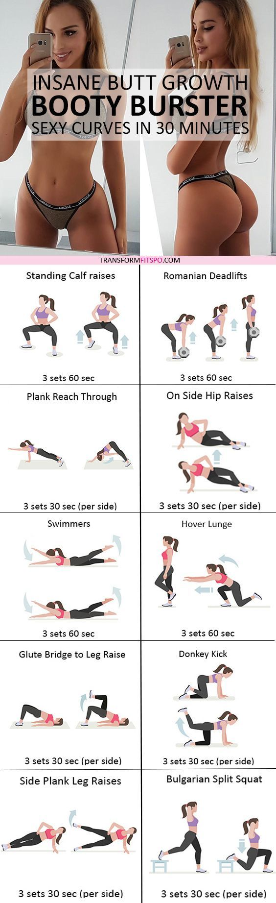 #womensworkout #workout #femalefitness Repin and share if this workout gave you insane butt growth! Click the pin for the full workout.