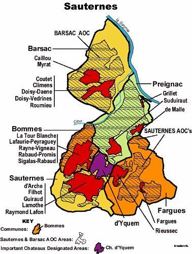 Sauternes Wine Region Map