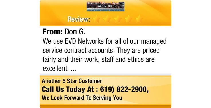 We Use Evd Networks For All Of Our Managed Service Contract