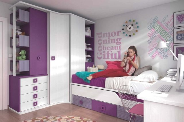 50 idées pour la décoration chambre ado moderne  Decoration