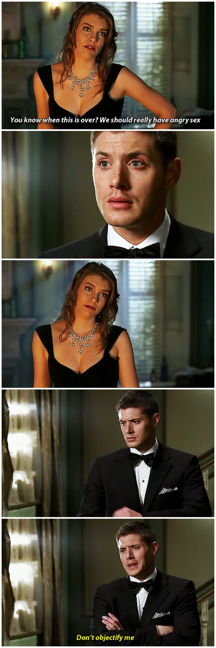 [gifset] 3x06 Red Sky At Morning #SPN #Dean #BelaTalbot