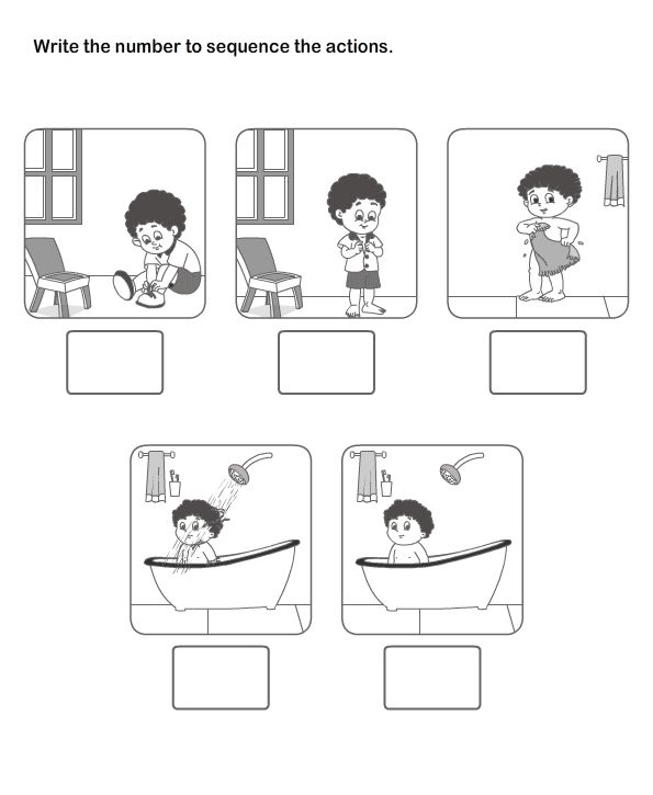 Picture Sequence Learning Arrange Series Of Pictures