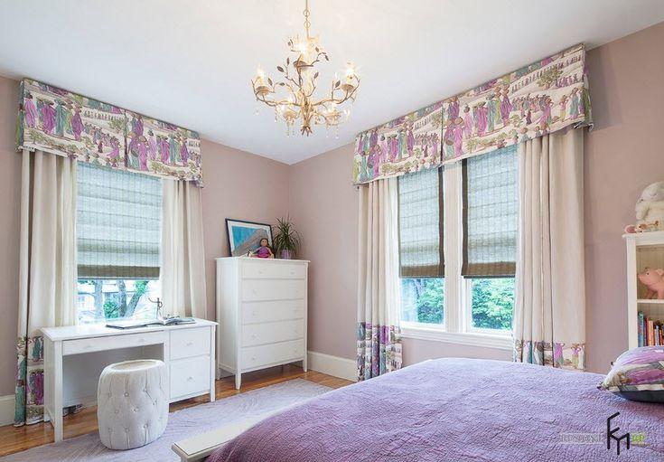 Фиолетовые шторы в интерьере спальни, гостиной и рабочего кабинета ...