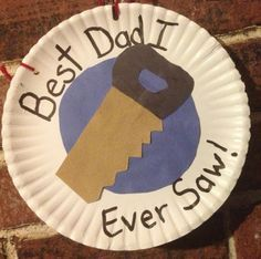 Paper Plate #FathersDay craft for children. #kidscraft #preschool