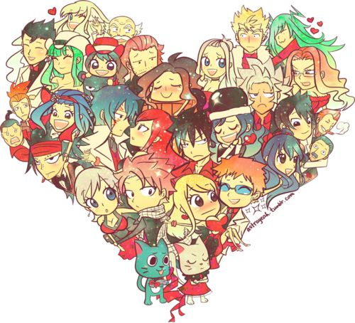 Happy Valentine's Day, to all those fairy tail lovers and their many ships!!!