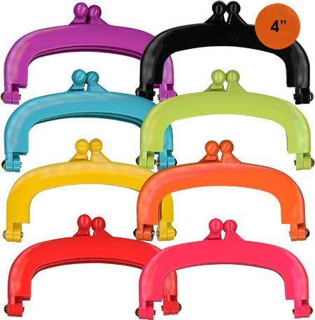Gelee-Clips - die heiße kleine Rahmen für hübsch Geldbörsen!  Geldbörse-Schnittmuster ist im Lieferumfang des Rahmens. Größe - 4 Zoll über.  Wollen Sie alle Farben? Hier gehen Sie! https://www.etsy.com/listing/243275968/bundle-one-each-color-8-jelly-clip-4