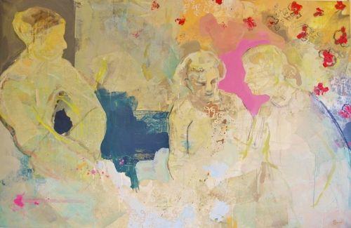 Maleri av Henriette Emilie Finne i Galleri EKG på Hamar