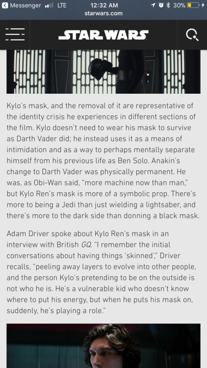 Driver is a phenomenal actor. Everything he said in this interview, I had already gotten from his stunning performance.