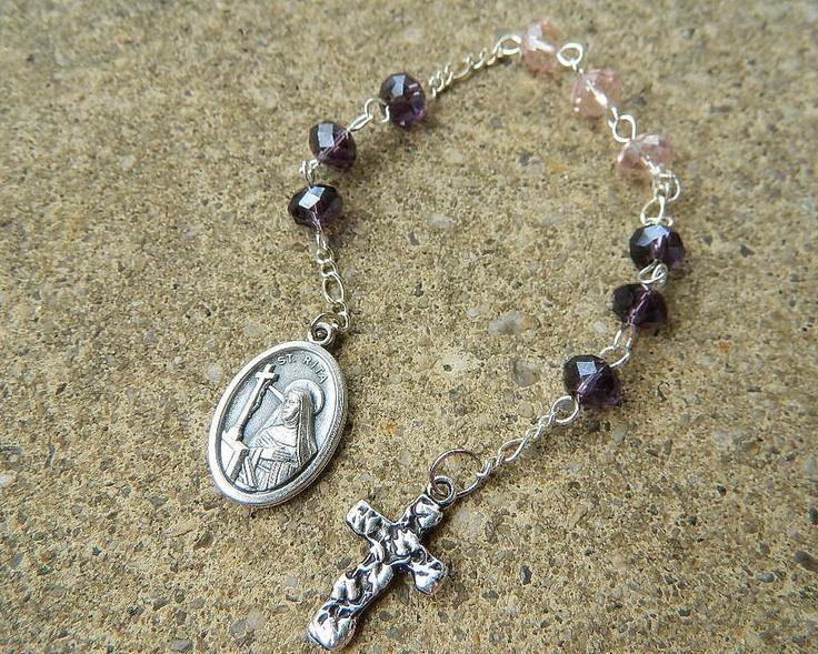 St. Rita Prayer Chaplet Rosary - Catholic Patroness of Desperate Causes.