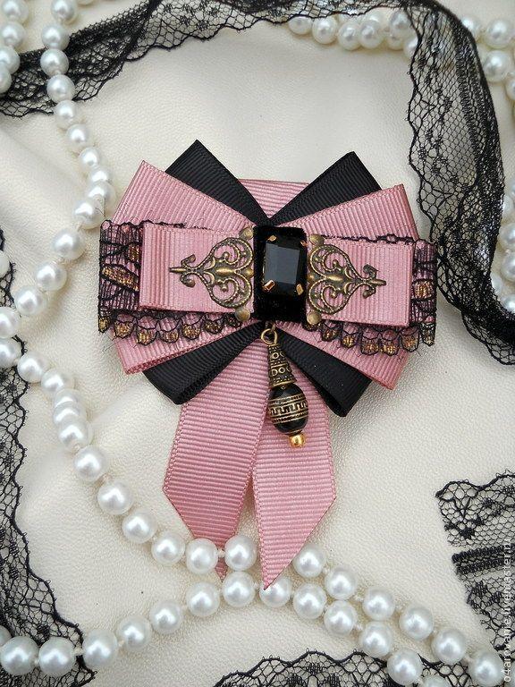 """Купить Брошь-орден """"Чайная роза"""" - розовый, однотонный, винтажный стиль…"""