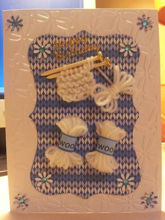 Knitting Birthday Card : Knitting happy birthday card pinterest