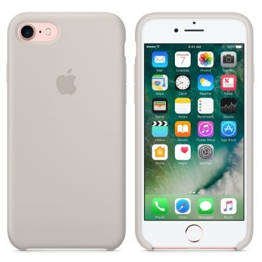 Apple iPhone 7 siliconenhoesje steengrijs  SHOP ONLINE: http://www.purelifestyle.be/shop/view/technology/iphone-beschermhoezen/apple-iphone-7-siliconenhoesje-steengrijs