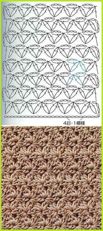 crochet stitch.❥Teresa Restegui http://www.pinterest.com/teretegui/❥