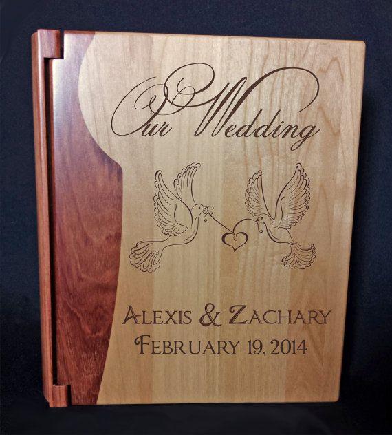 Personalized Photo Album Custom Engraved Wedding by TrueloveAffair, $48.00