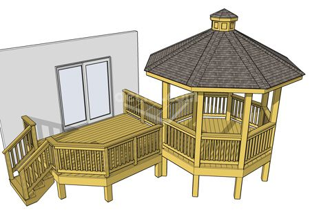 Maybe put the hot tub in the gazebo with benching around it?