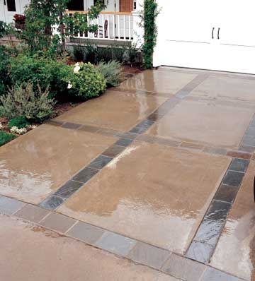 67 best driveway and walkway ideas images on pinterest for Garage slab thickness