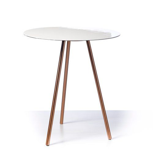 Home Republic Luna Side Table White, side table, tripod tables