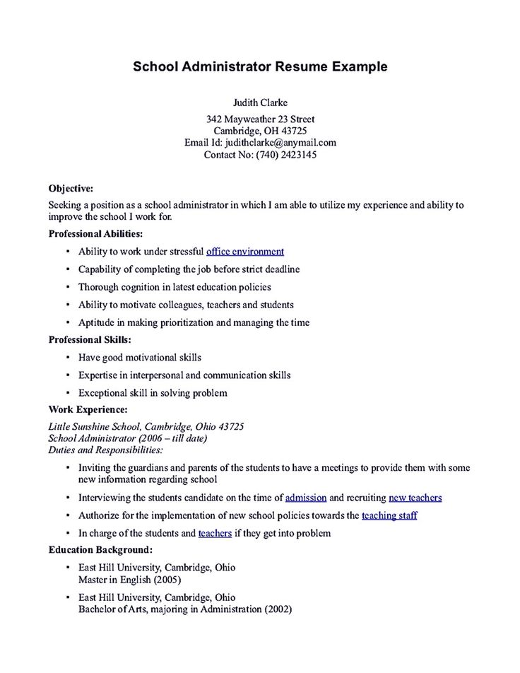 Academic Cv Graduate School Application Job Resume Format Sample ...  Grad School Resume Examples