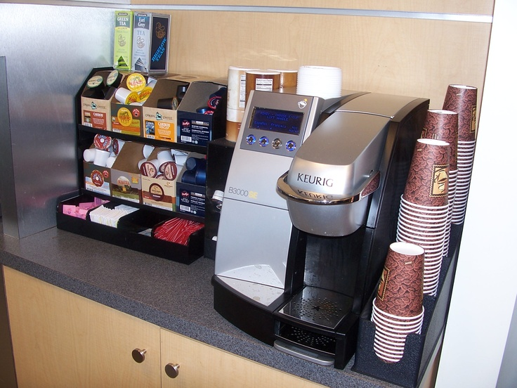 Keurig Station SetupKcups to the left, then condiments