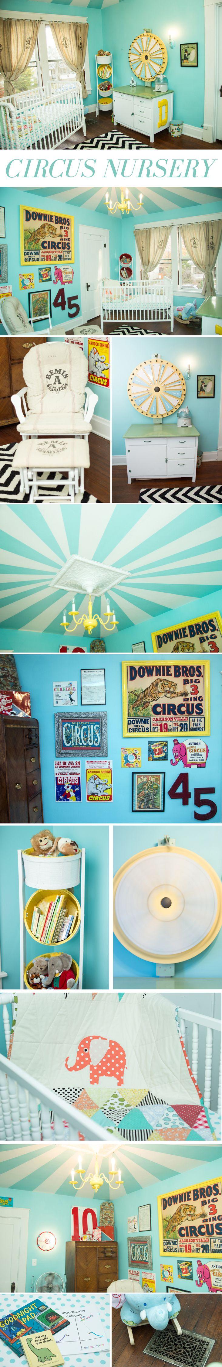 Vintage circus nursery! Ritzy Rosebud.