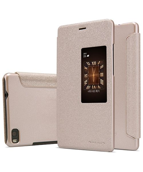 Nillkin Sparkle Window View Flip Case Huawei Ascend P8 Goud