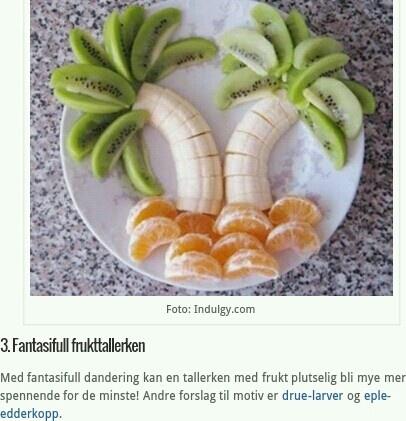 Fantasifull frukttallerken