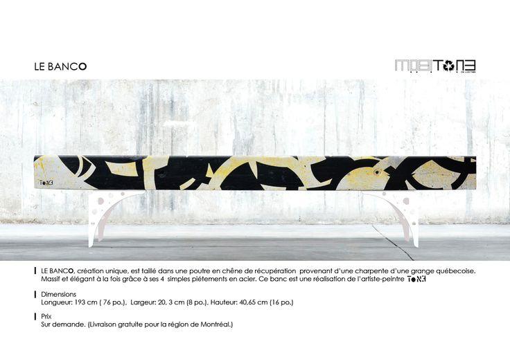 Le bancO. Création de l'artiste-peintre Tone. www.t-pakap.net
