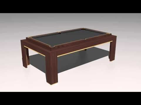 The Spartan Rollover - Pool / Dining Table.  www.designerbilliards.co.uk https://www.homeleisuredirect.com/pool_tables/manufacturers/designer-billiards/designer-billiards-spartan-rollover-pool-table.html