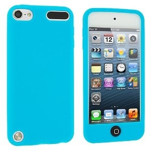 Baby Blue Silicone Rubber Gel Soft Skin Case Cover for Apple iPod Touch 5th Generation 5G 5
