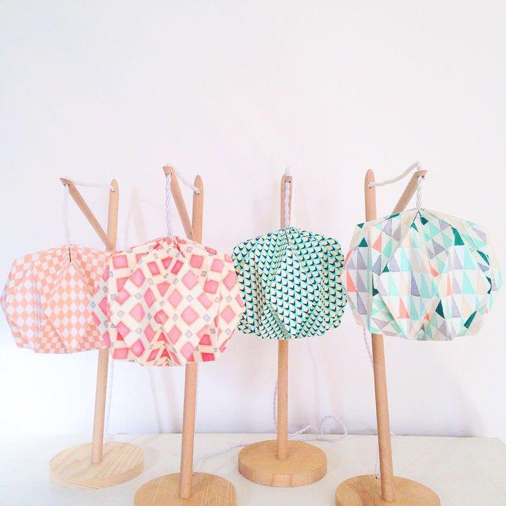 Colors & patterns  Les petites dernières  #lampe #lamp #colors #patterns #tissu #fabric #handmade #faitmain #origami #handcraft #craft #maker #mywork #design #deco #decoration #homedesign #homedecor #couleurs #madeinfrance