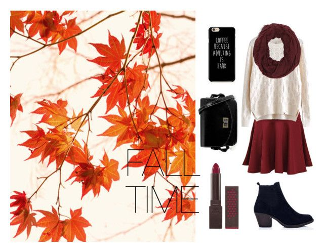 """""""Fall time"""" by chrysapan on Polyvore featuring Pilot, WithChic, Charlotte Russe and Burt's Bees"""