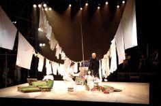 "Roni Toren Stage Design רוני תורן ""Mother Courage"", dir Rut Kaner Tokyo 2005 ."